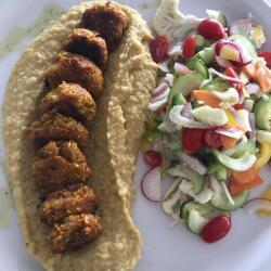 Blue Spice Restaurant Falafel And Houmous