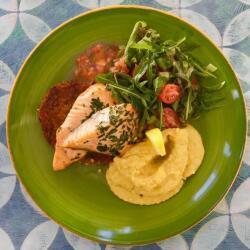 Blue Spice Restaurant Salmon Fillet