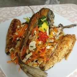 Blue Spice Restaurant Sea Bream With Salad