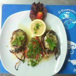 Koursaros Fishtavern Ink Fish Stuffed With Basil Pesto