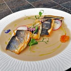 Oshi Sea Bass With A Mouthwatering Coconut And Abalone Sauce