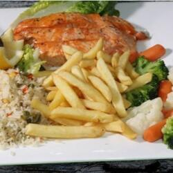 Agios Georgios Alamanou Fish Grilled Salmon