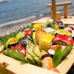 Agios Georgios Alamanou Fish Tavern Sushi Platter