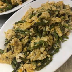 Agios Epiktitos Tavern Traditional Agrelia With Eggs