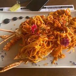 Andria Restaurant Lobster Pasta